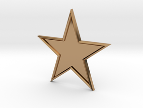 STAR-BASIC-1CHAMPER in Polished Brass