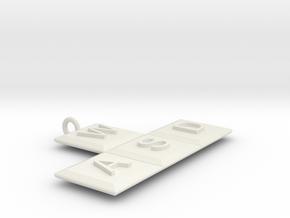 Pc Gamers Pendant in White Natural Versatile Plastic