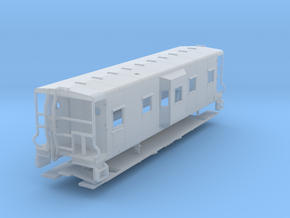 Sou Ry. bay window caboose - Round roof - TT scale in Smooth Fine Detail Plastic