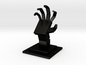 The Cubist Palm in Matte Black Steel