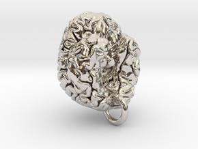 Human brain in Platinum