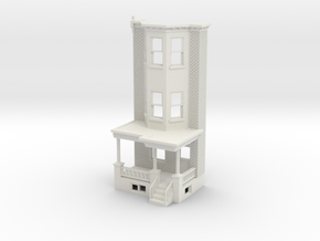 O scale WEST PHILLY 3S ROW HOME Brick RD FRONT in White Natural Versatile Plastic