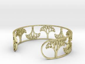 Natural Tree Bracelet 7in (18cm)  in 18k Gold Plated Brass