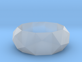 Low-poly Ring in Smoothest Fine Detail Plastic