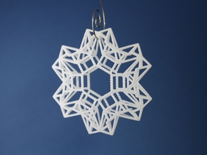 Envelopes & Stamps Snowflake in White Processed Versatile Plastic