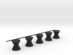 Senet Black Game Pieces Only in Black Natural Versatile Plastic