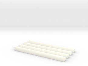 Senet Game Casting Sticks Only in White Processed Versatile Plastic