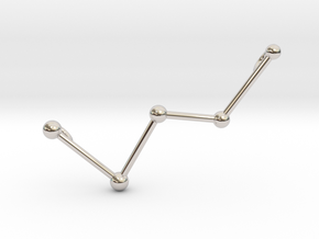 Cassiopeia Necklace in Rhodium Plated Brass