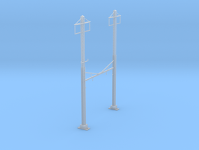 CATENARY PRR 2 TRACK 2PHASE N SCALE  in Smooth Fine Detail Plastic