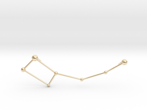 Ursa Minor Necklace in 14K Yellow Gold
