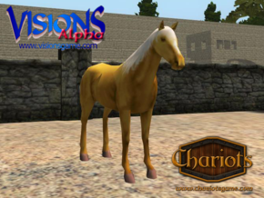Horse Golden Palomino in Full Color Sandstone