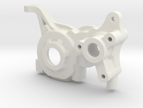 LCG 3 gear Right side gearbox for Associated B5M in White Natural Versatile Plastic