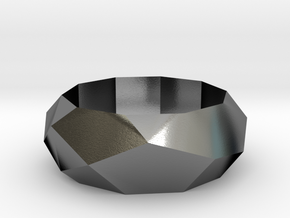 Low-poly Ring in Polished Silver