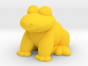 Frog (Nikoss'Animals) in Yellow Processed Versatile Plastic