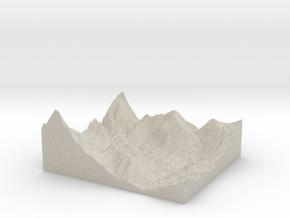 Model of Cold Springs Rancheria in Sandstone