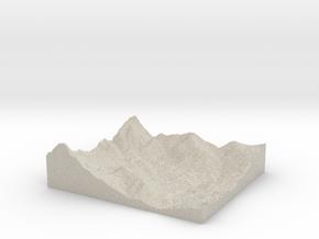 Model of Cold Springs Rancheria in Natural Sandstone
