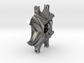 Geometric Necklace / Pendant-19 in Polished Nickel Steel