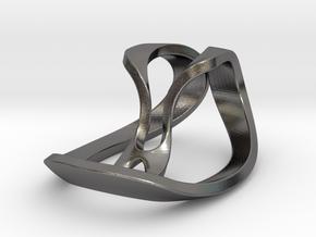 Geometric Necklace / Pendant-06 in Polished Nickel Steel