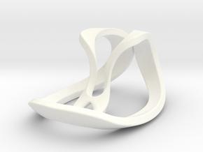 Geometric Necklace / Pendant-06 in White Processed Versatile Plastic