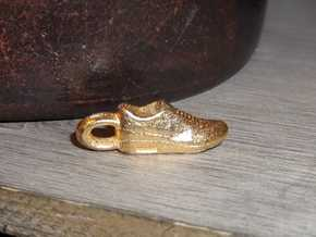 Nike Air Max 1 Sneaker Pendant in Polished Gold Steel