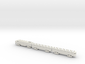 MTC G16 Train in White Natural Versatile Plastic