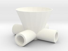 Drinkdispenserfor4 in White Strong & Flexible Polished