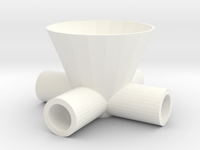 Drinkdispenserfor4 in White Processed Versatile Plastic