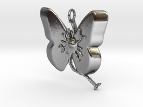 Multiple Sclerosis Neuron Butterfly in Polished Silver