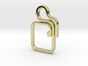 SQUARE KCrc in 18k Gold Plated Brass
