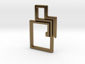 Square KR1 in Polished Bronze