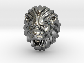 LION RING SIZE 9 1/4 in Fine Detail Polished Silver