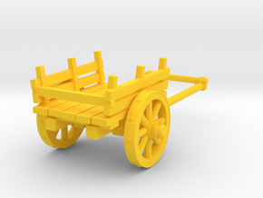 2-wheel cart, 28mm in Yellow Strong & Flexible Polished