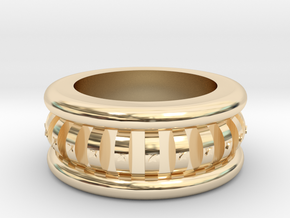 the Crown Ring  in 14k Gold Plated Brass