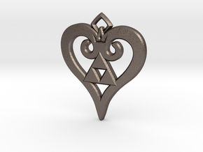Kingdom Triforce in Polished Bronzed Silver Steel