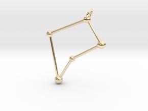 Virgo Constellation Pendant in 14k Gold Plated Brass
