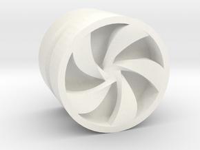 PINWHEEL_1814CS_LEFT - LEGO-compatible Custom Rims in White Processed Versatile Plastic