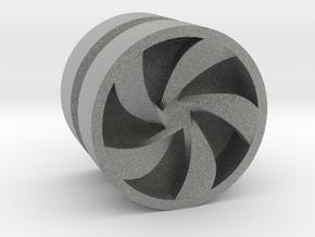 PINWHEEL_1814CS_LEFT - LEGO-compatible Custom Rims in Metallic Plastic