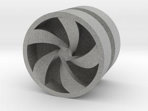 PINWHEEL_1814CS_RIGHT - LEGO-compatible Custom Rim in Metallic Plastic