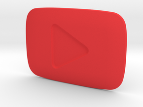 **ON SALE** YouTube Play Button Award in Red Strong & Flexible Polished
