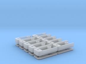 Medium Draft Coupler Box (N -1:160) 10X in Smooth Fine Detail Plastic