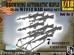 1-18 Browning BAR 1918A2 Set in Smooth Fine Detail Plastic