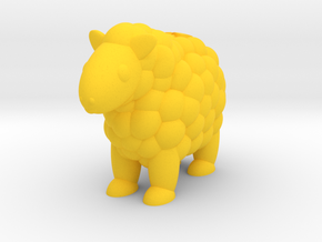 Sheep (Nikoss'Animals) in Yellow Processed Versatile Plastic