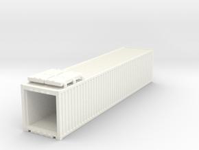 40' Container.N Scale (1:160) in White Processed Versatile Plastic