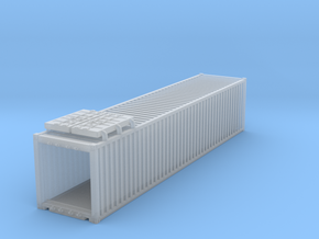 40' Container.N Scale (1:160) in Smooth Fine Detail Plastic