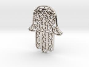 Hamsa Pendant in Platinum