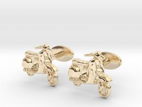 Vespa Cufflinks. in 14K Yellow Gold