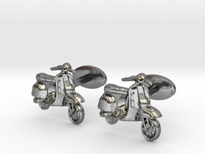 Vespa Cufflinks. in Fine Detail Polished Silver
