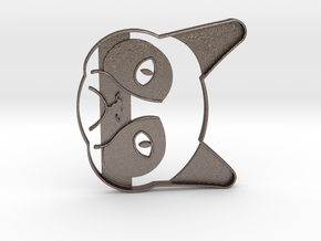 Grumpy Cat Cookie Cutter in Polished Bronzed Silver Steel