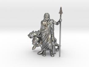 Hades with Cerberus in Natural Silver