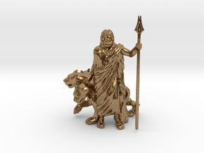 Hades with Cerberus in Natural Brass